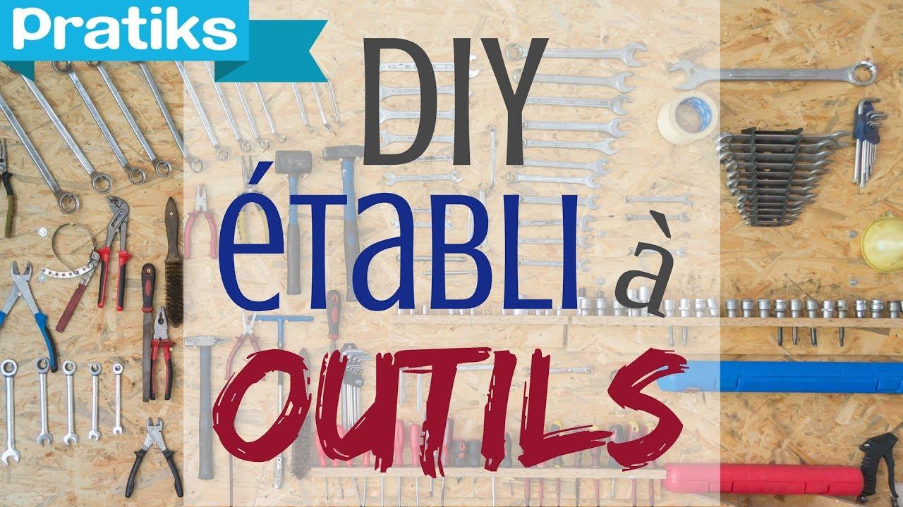 faire un tabli maison pour ranger les outils ga l gagne du temps youtube. Black Bedroom Furniture Sets. Home Design Ideas