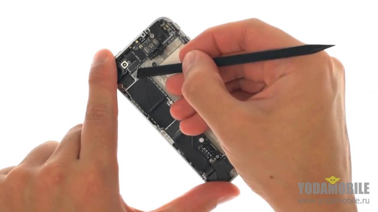 Замена динамика на iphone 4s своими руками