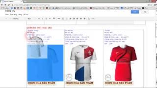 Chỉnh sửa thông số và bố cục cho web với google sites