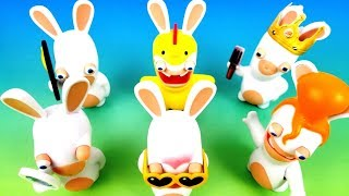 2019 BURGER KING RABBIDS KIDS MEAL TOYS JR LAPINS CRETINS NEXT AQUAMAN MOVIE FULL SET 6 RABBITS USA
