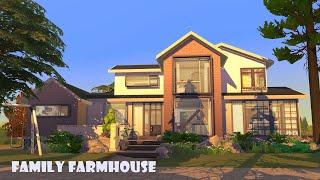 STYLISH FAMILY FARMHOUSE 🐓 No CC 🌽 Sims 4 Stop Motion   Eco Lifestyle
