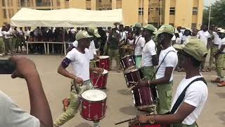 NYSC Lagos Brigade Band Drum line Competition Between #17A And #17B.