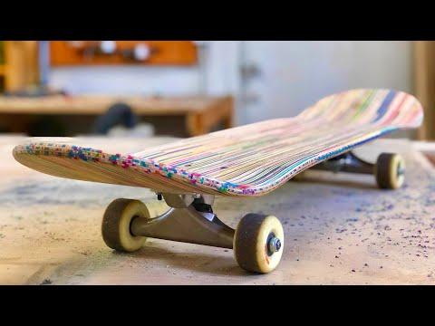 SKATEBOARD MADE OUT OF BROKEN SKATEBOARDS
