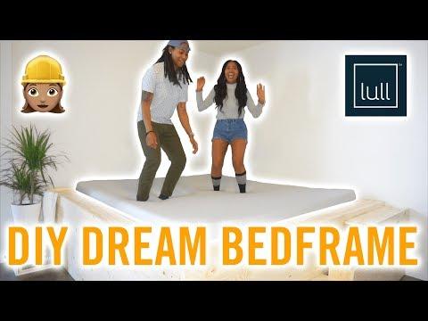 DIY DREAM BED FRAME!!! | LULL MATTRESS UNBOXING!!!