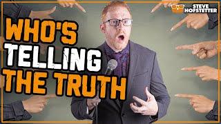 Crowd calls comedian a liar - Steve Hofstetter