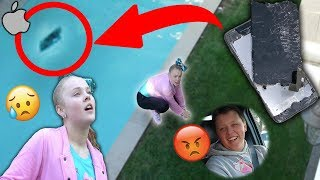 MY BROTHER THREW MY PHONE IN THE POOL...