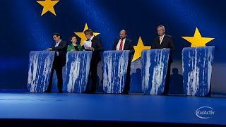 Top EU job rivals hold last TV debate before election