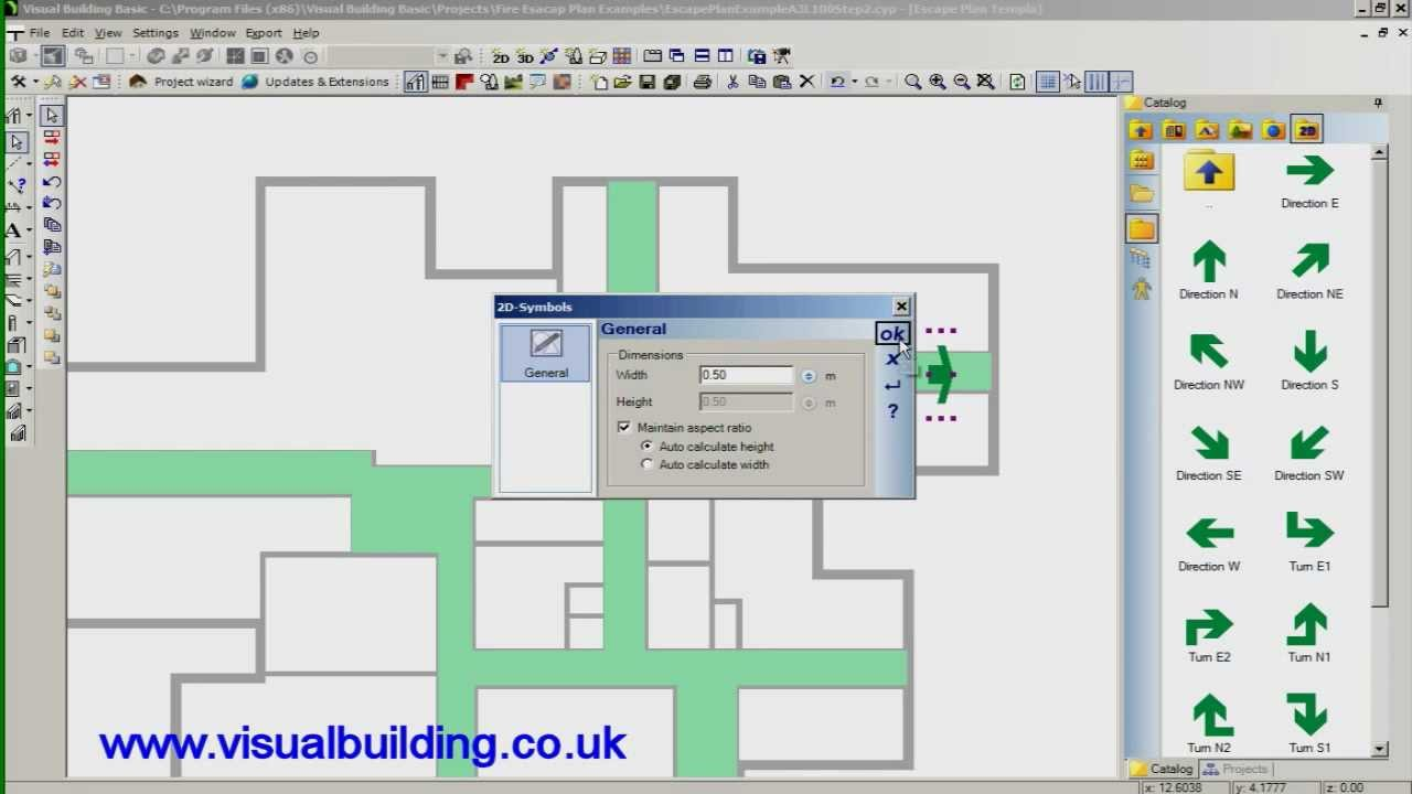 Visual building tutorial how to create a fire escape plan youtube Building layout maker
