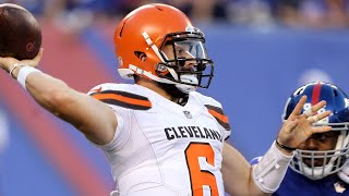 Cleveland Browns quarterback Baker Mayfield and offensive coordinat...