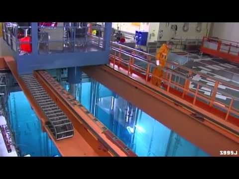 The inside and outside of a nuclear reactor