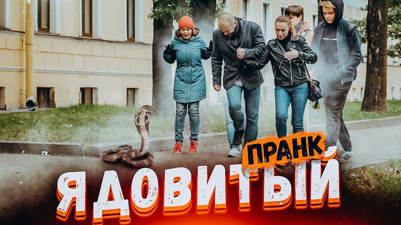 ЗМЕЯ НАПАЛА НА ПРОХОЖИХ ПРАНК / Подстава от Вджобывай / snake prank in Russia