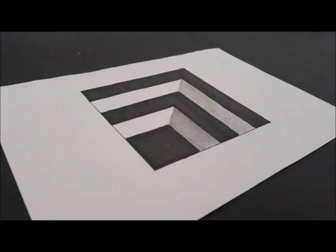 ÇOK KOLAY !!! Kağıda 3 Boyutlu Çizim Yapma___Very Easy!! How To Draw 3D Hole for Kids