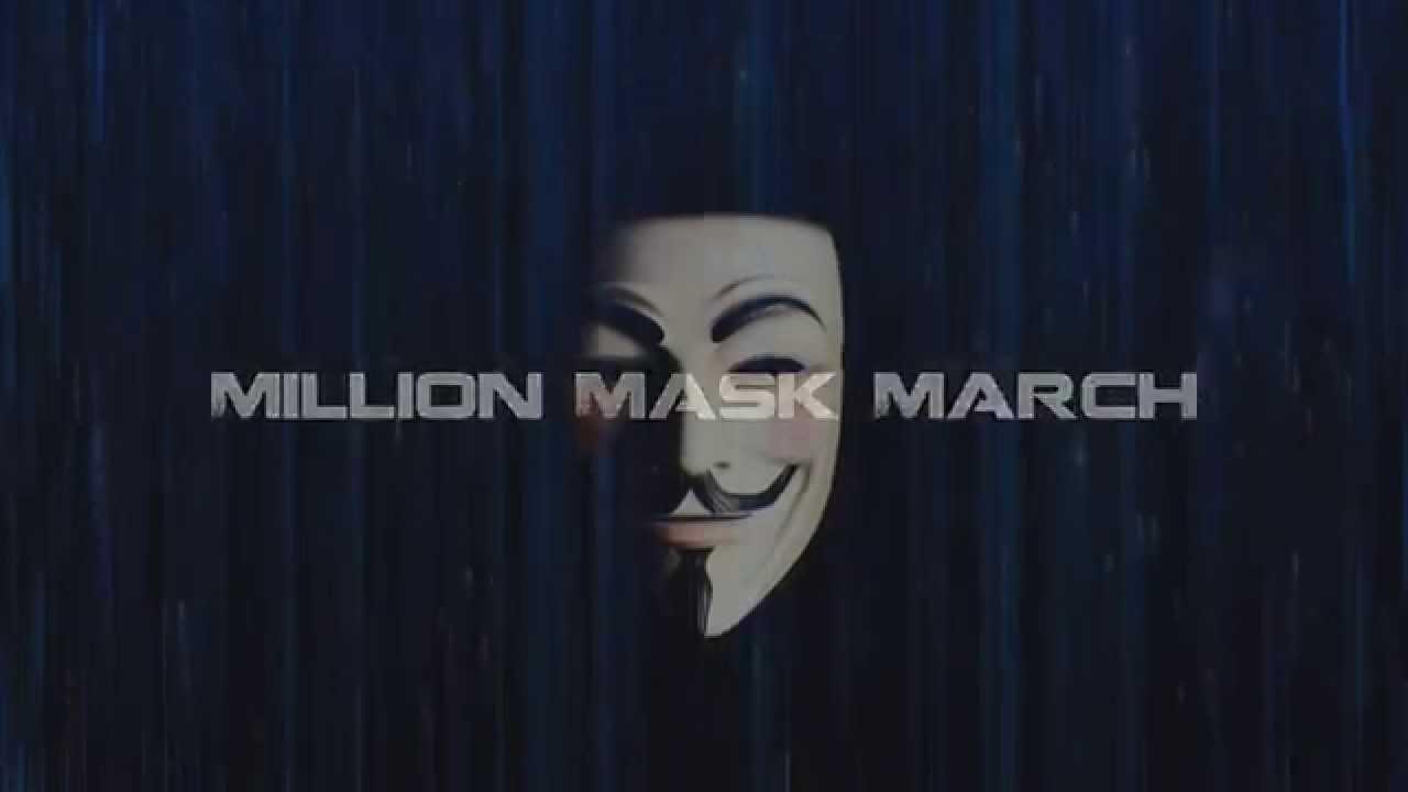 Million Mask March 2015 - Glasgow