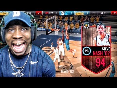 94 STEVE NASH IS A BAD MAN & LEGEND PACK OPENING! NBA Live Mobile 16 Gameplay Ep. 64