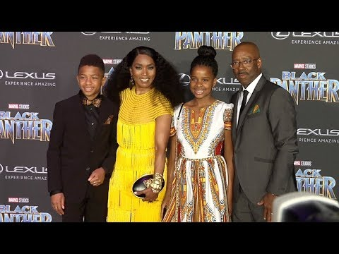 "Angela Bassett ""Black Panther"" World Premiere Purple Carpet"