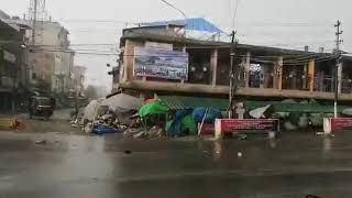 Kakching bazar during storm (Manipur Storm) 2019