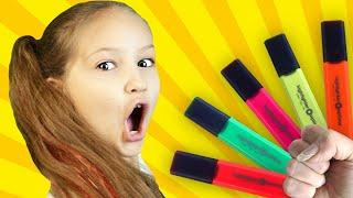 preschool toddler learn color #2 شفا والأقلام السحرية