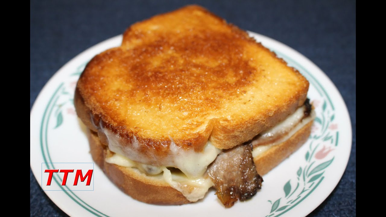 Grilled Havarti Cheese Roast Beef and Tomato Sandwich in the