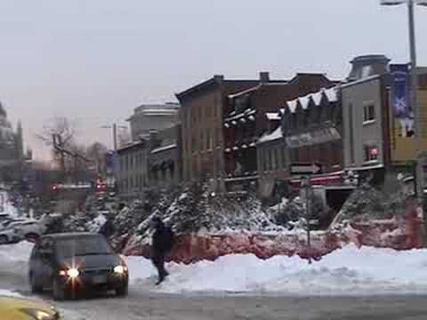 Ottawa's Byward Markets in the snow