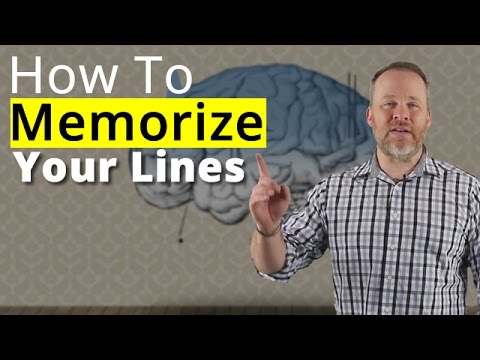 How To Memorize Lines - Best Memorization Techniques