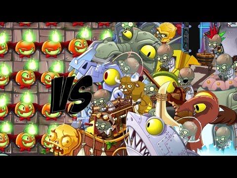 Plants vs Zombies 2 Epic Hack : Jack O' Lantern Treats vs Each Zombots Specials!