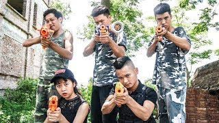 Hihahe Nerf War: SWAT & Spy American Nerf Guns Escaped Girl Rescue Uncle Nerf Movies