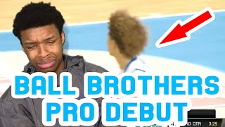 LAMELO AND LIANGELO BALL PROFESSIONAL DEBUTS!! FUTURE  FULL HIGHLIGHTS AND REACTION!