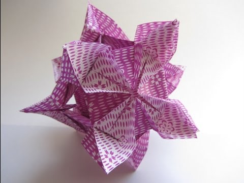 Origami Kusudama Diamond Flower Youtube