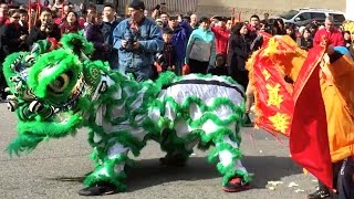 2016 Boston Lion Dance (Chinese New Year) - Parade and Stage Event in Chinatown