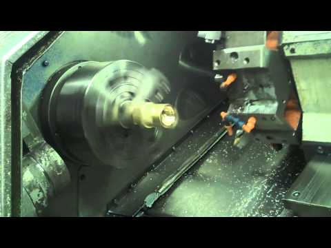 Mazak CNC Lathe Machining Brass Casting Travel Video