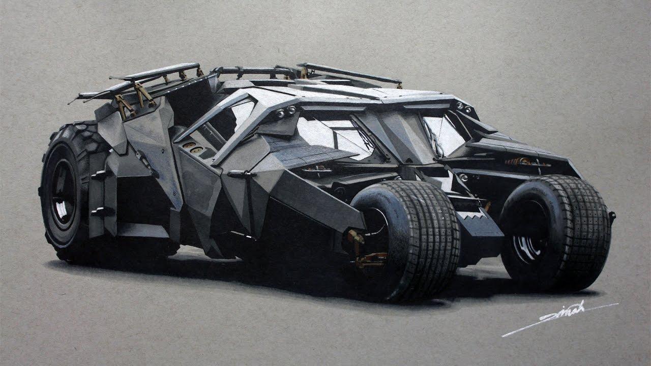 """Batmobile """"The Tumbler"""" Drawing"""
