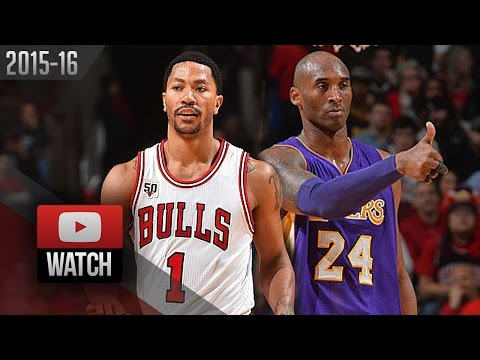 Derrick Rose vs Kobe Bryant DUEL Highlights (2016.02.21) Bulls vs Lakers - SICK!