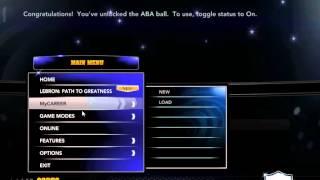 How to unlock ABA ball (Money ball) on NBA 2K14