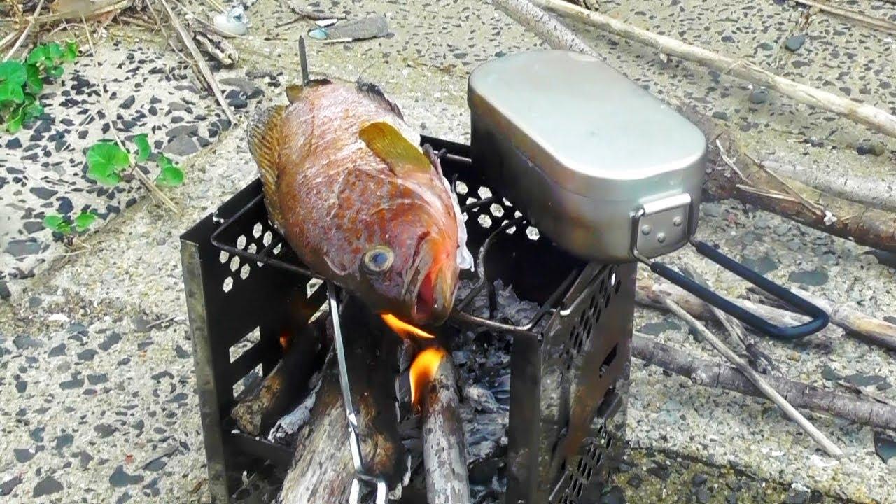 モリ突きからの現地食い 野生ニートの食卓事情