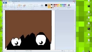 Видео урок по рисованию аватарки на youtube через программу paint