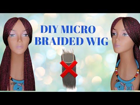 Download DIY:HOW TO MAKE A MICRO BRAIDED WIG TUTORIAL/ CROCHET METHOD/ TWIST WIG/ BRAIDS WIG/NO LACE CLOSURE