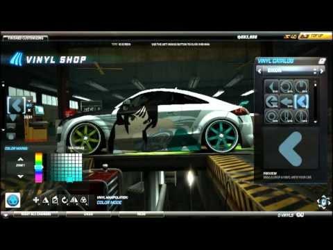 Need For Speed World Anime Art Vinyl Tutorial Audi Tt Rs