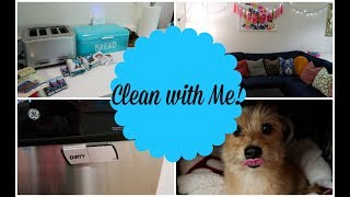 CLEAN WITH ME | CLEANING MOTIVATION | KITCHEN, LIVING ROOM, BATHROOM & LAUNDRY