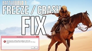 BATTLEFIELD 1 FREEZE / CRASH FIX (this is just one possible solution)