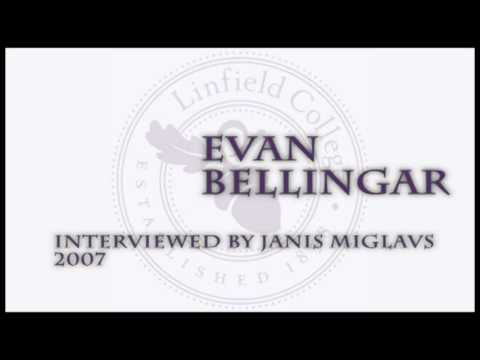 Janis Miglavs Oral History Interview: Evan Bellingar