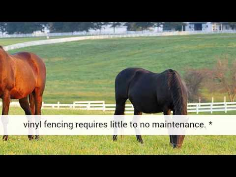 PVC Vinyl Fencing for Horse Stables and Farms