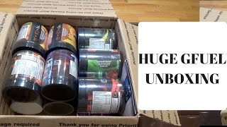 HUGE GFUEL PACKAGE UNBOXING!!!