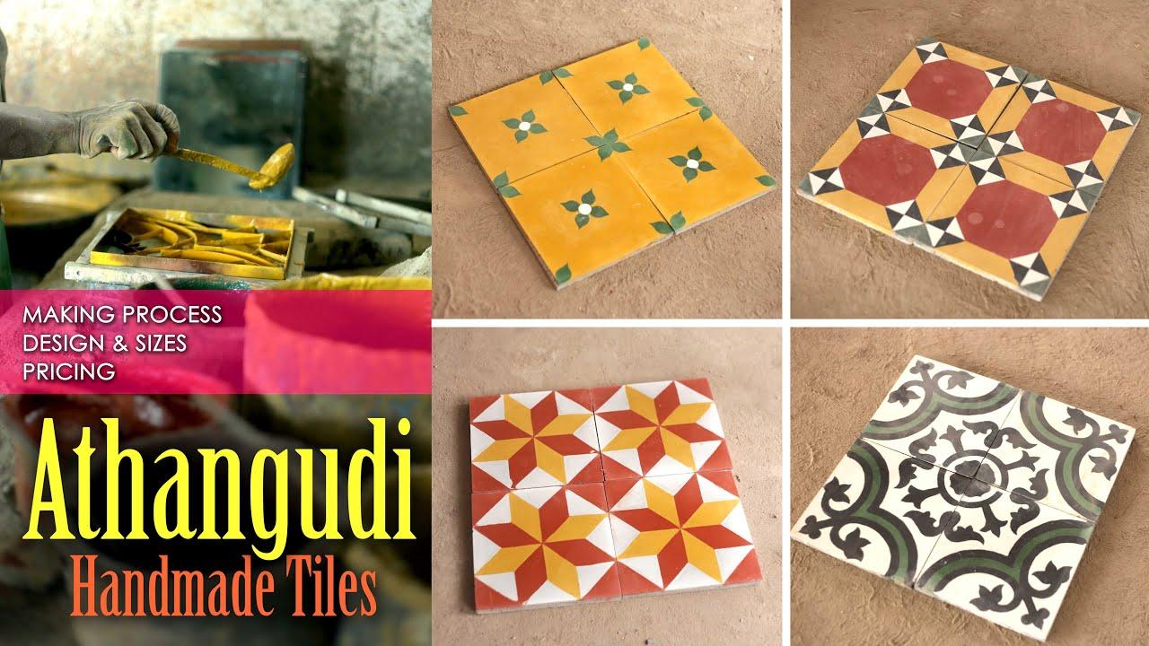 Athangudi Tiles Making Designs