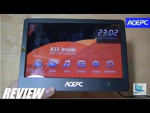 REVIEW: ACEPC P1 - Wi-Fi Cloud Digital Photo Frame! - YouTube