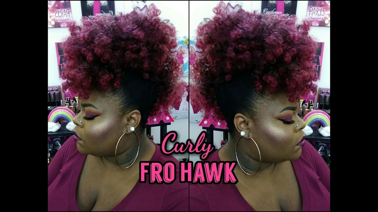 faux hawk drawstring ponytail