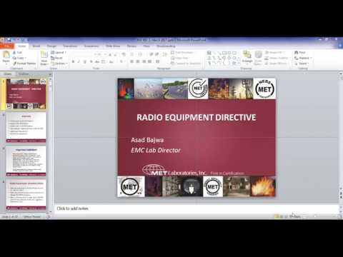 New Radio Equipment Directive Webinar