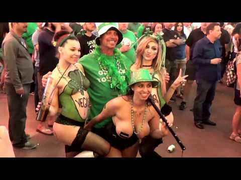 Saint Patrick's Day 2017 at Fremont street.!!