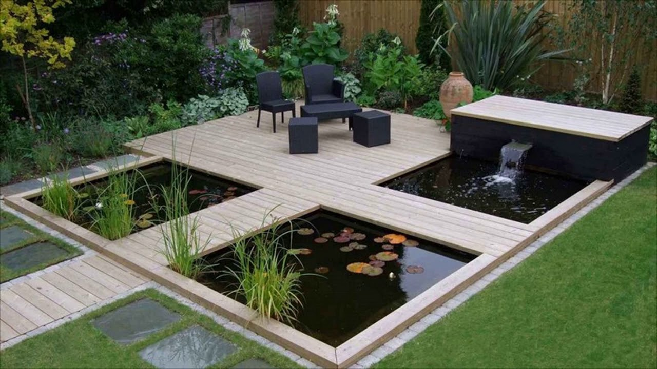 Koi fish pond garden design ideas youtube for Small pond filter design