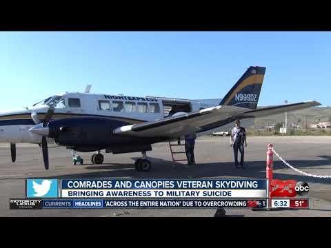 Veterans skydiving to raise awareness for PTSD and veteran suicide