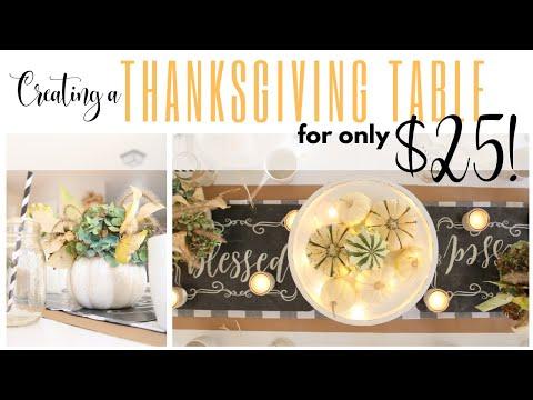 Thanksgiving Tablescape Idea ~ Dollar Tree Table Decor ~ DIY Table Decor Ideas